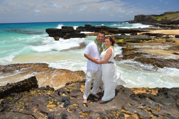 Sandy Beach Wedding Photo